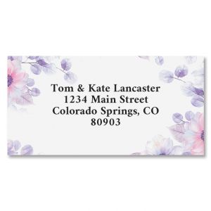 Soft Florals Border Address Labels