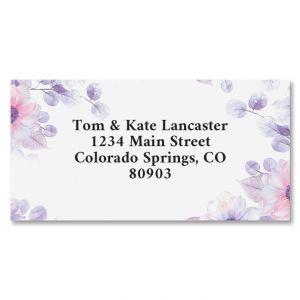 Soft Florals Border Address Labels