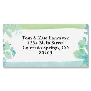 Fresh Garden Border Address Labels