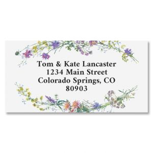 Dainty Sprigs Border Address Labels