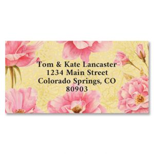 Wild Roses Border Address Labels