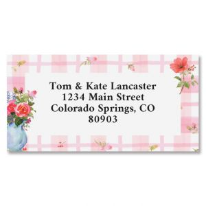 Spring Pitcher Border Address Labels