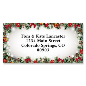 Christmas Frame Border Address Labels