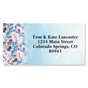 Blossoming Apricot Border Address Labels