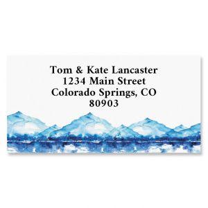 Mountain Landscape Border Address Labels