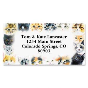 So Many Cats Border Address Labels