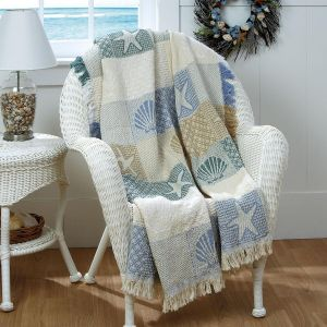 Seashells by the Seashore Decorative Throw