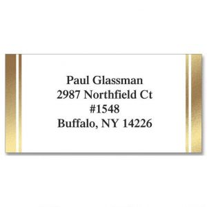 White & Gold  Foil Address Labels
