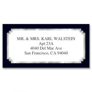 Black & Silver Foil Border Address Labels