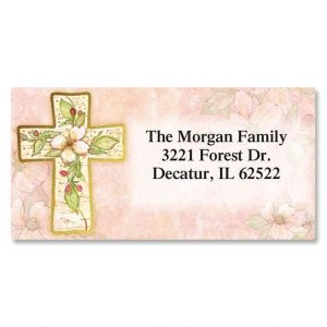 Flowers Of Faith Foil Deluxe Address Labels