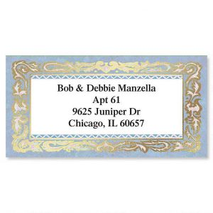 Romance Foil Border Address Labels