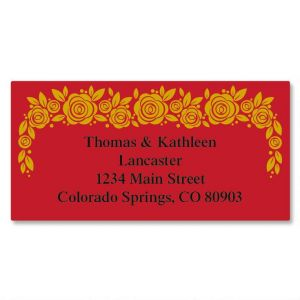 Rose Gold Foil Border Address Labels