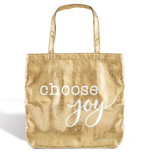 Choose Joy Gold Tote