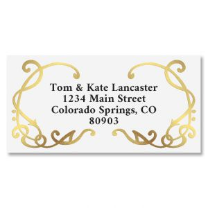 Grandeur Gold Foil Border Address Labels