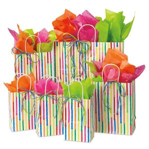 Spring Stripes Gift Bag Set