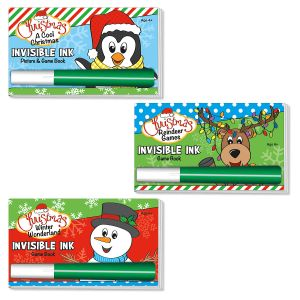 Invisible Ink Holiday Game Book