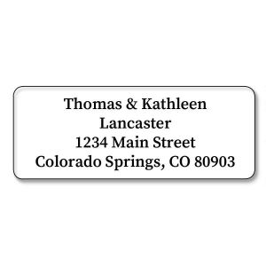 Clear Premier Die Cut Address Labels