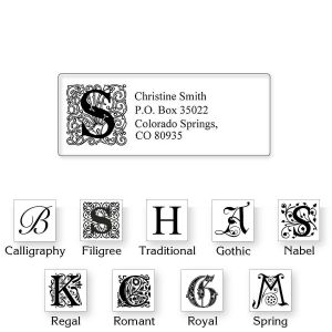 Monogram Clear Premier Address Labels