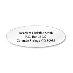 White Oval Premier Address Labels