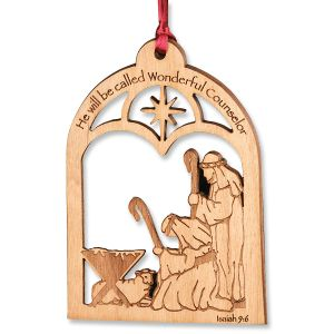 Alder Wood Counselor Christmas Ornament