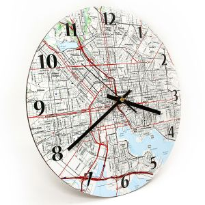 Personalized Round Map Clock