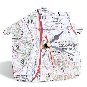 Hometown Personalized Map Clock
