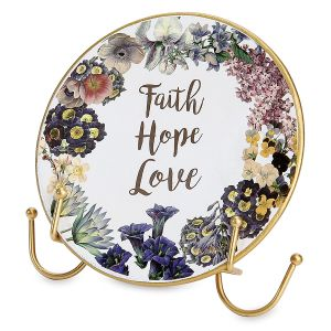 Faith Hope Love Trinket Plate