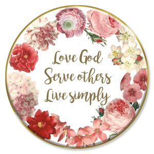 Love God Trinket Plate