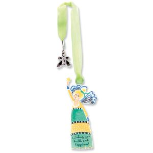 Health & Happiness Bookmark Charm