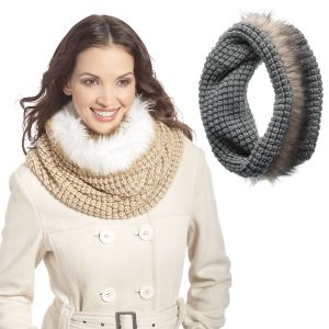 Infinity Fur Hooded Scarf