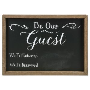 Be Our Guest Wi Fi Plaque