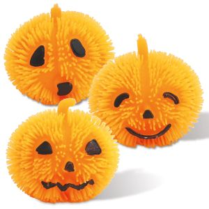 Light-Up Puffer Pumpkins