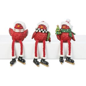 Cardinal Christmas Shelf Sitters