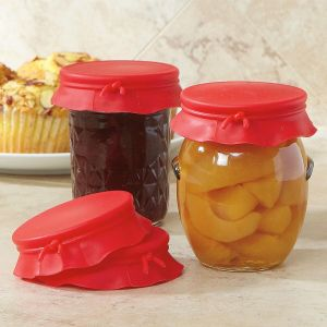 Red Silicone Jar Toppers