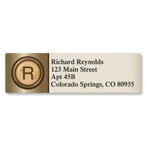 Typewriter Initial Classic Address Labels