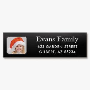 Modern Classic Photo Personalized Address Labels
