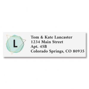 Modern Initial Classic Address Labels