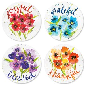 Poppies & Gratitude Seals (4 Designs)