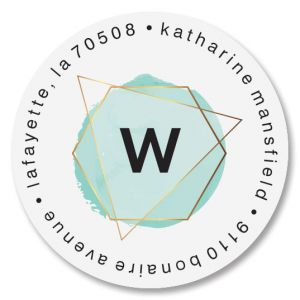 Modern Initial Round Address Labels