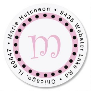 Leeza Round Address Label