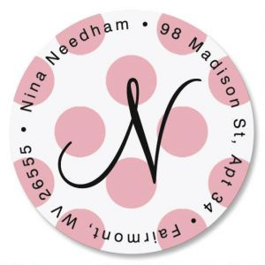 Dots Initial Round Address Labels
