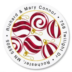 Peppermint Round Address Labels
