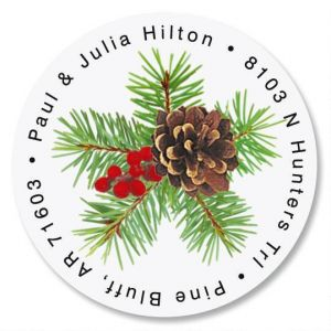 Classic Spruce Round Address Labels