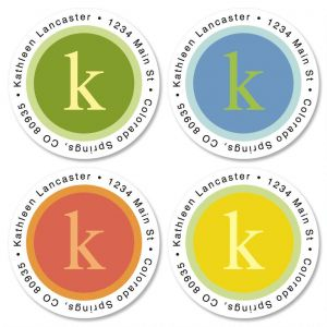 Sage Advice Round Address Labels  (4 designs)