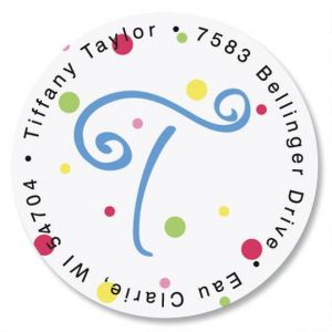 Splatter Dot Initial Round Address Labels