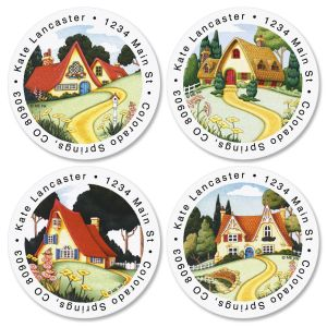 Mary Engelbreit® At Home Round Address Labels  (4 designs)