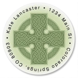 Celtic Cross Round Address Labels