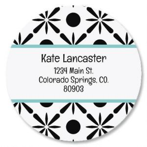Stately Round Address Labels