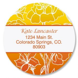 Sunny Round Address Labels