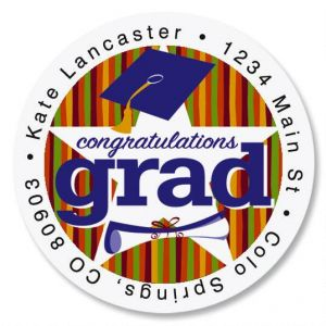 Graduation Star Round Address Labels